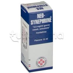 Neosynephrine Gocce 15 ml 2,5 mg/ml Decongestionante per Naso Chiuso