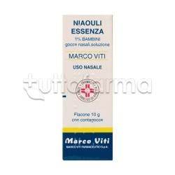 Niaouli Essenza Marco Viti 1% Gocce Nasali 10 gr Espettoranti Balsamiche