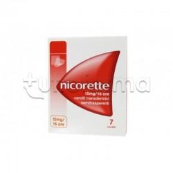 Nicorette 7 Cerotti Transdermici 10 mg/16 h Nicotina per Disassuefazione da Sigarette