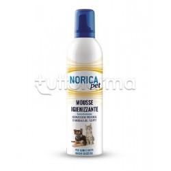 Norica Pet Mousse Igienizzante Disinfettante per Cani e Gatti 400ml