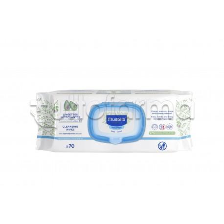 Mustela Salviette Detergenti per il Cambio del Bebé 70 pezzi