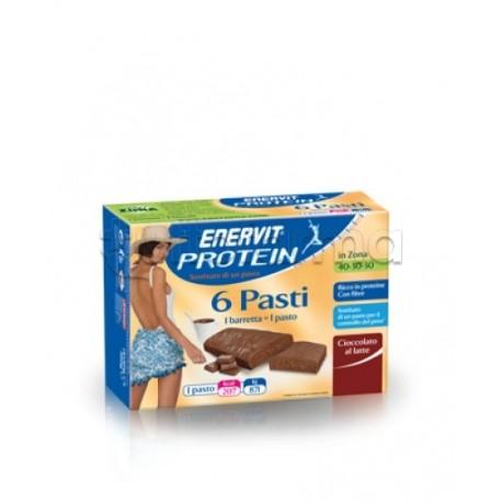 Enervit Protein Sostituto Pasto 6 Barrette Cioccolato al Latte 45 Gr