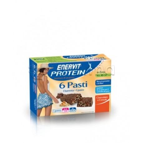 Enervit Protein Sostituto Pasto Barrette Cioccolato Cereali 45 Gr