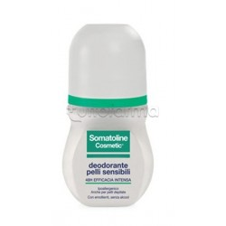 Somatoline cosmetic deo roll-on deodorante pelli sensibili 50ml