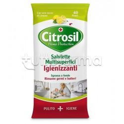 Citrosil Home Protection Salviette Igienizzanti Multisuperfici Aroma Limone 40 Pezzi