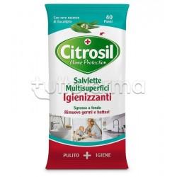 Citrosil Home Protection Salviette Igienizzanti Multisuperfici Aroma Eucalipto 40 Pezzi