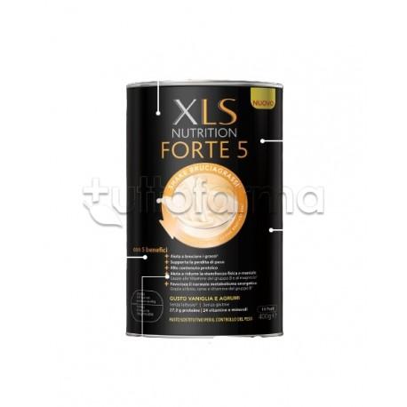 XLS Nutrition Forte 5 Sostituto Pasto Bruciagrassi Gusto Vaniglia e Agrumi 400g
