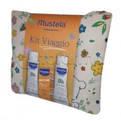 Mustela Kit da Viaggio con Solare, Latte Corpo e Gel Doccia 100ml + 40ml