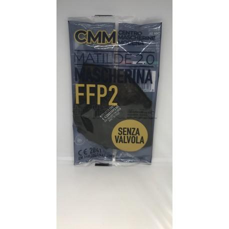 Mascherina Respiratoria Filtrante FFP2 Nera Matilde 2.0 Produzione Italiana Certificata CE 1 Mascherina