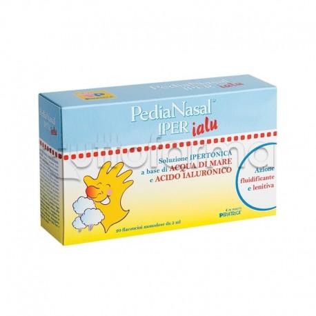 Pedianasal Iper Ialu Soluzione Ipertonica con Acido Ialuronico per Adulti e Bambini 20 Flaconcini