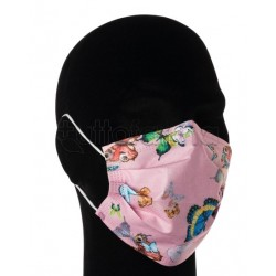 Mascherina Chirurgica per Adulti a Triplo Strato Farfalle Rosa- Confezione 10 Pezzi - 40 Centesimi a Mascherina