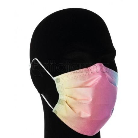 Mascherina Chirurgica per Adulti a Triplo Strato Sfumature Colorate- Confezione 10 Pezzi - 40 Centesimi a Mascherina
