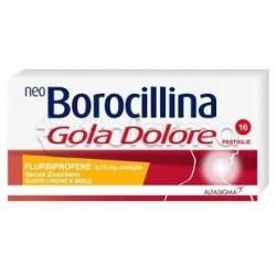 NeoBorocillina Gola Dolore Senza Zucchero Limone e Miele 16 Pastiglie