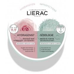 Lierac Maschera Hydragenist e Sebologie Idratante e Purificante 2X6ml
