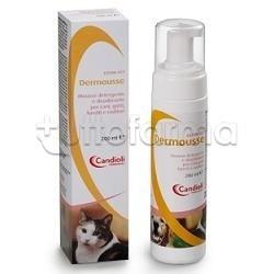 Dermousse Mousse Detergente Veterinaria per Cani e Gatti 200ml