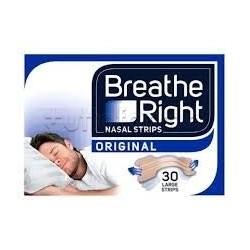 Breathe Right Cerottini Nasali Classici Grandi per Adulti 30 Pezzi