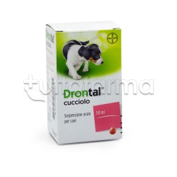 Drontal Cucciolo Farmaco Veterinario Infestazioni Parassitarie dei Cani Cuccioli 50ml