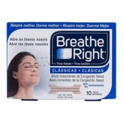Breathe Right Cerottini Nasali Classici Adulti 10 Pezzi