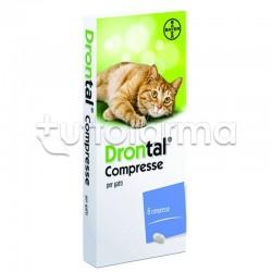 Drontal Farmaco Veterinario Infestazioni Parassitarie dei Gatti 8 Compresse