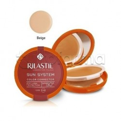Rilastil Sun System Fondotinta Correttore del Colore Protezione Solare SPF 50+ Beige 10g