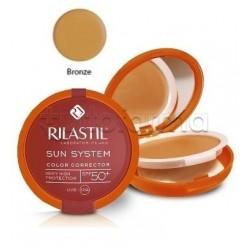 Rilastil Sun System Fondotinta Correttore del Colore Protezione Solare SPF 50+ Bronzo 10g