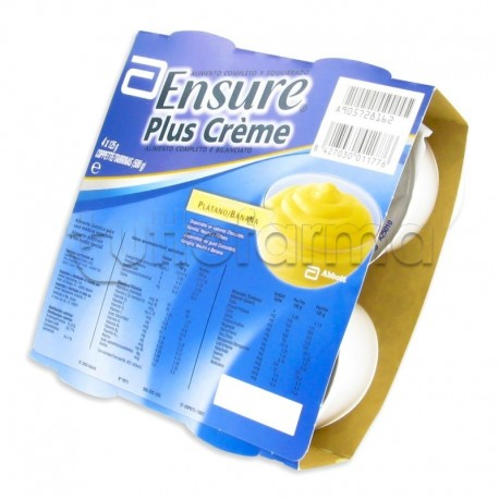 Ensure Plus Crema Banana Integratore Energetico 4x125g