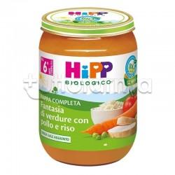 Hipp Fantasia Di Verdure Pappina Pronta con Pollo e Riso 190 gr