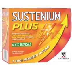 Menarini Sustenium Plus Integratore di Vitamine e Minerali Gusto Tropicale 22 Bustine
