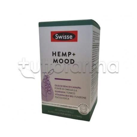 Swisse Hemp+ Mood Integratore Tonico per Benessere Fisico e Mentale con Olio di Semi di Canapa 60 Capsule Molli
