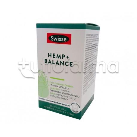 Swisse Hemp+ Balance Integratore Digestivo con Olio di Semi di Canapa 60 Capsule Molli
