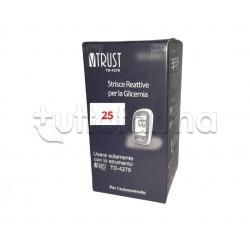 VTrust TD-4279 Strisce Reattive per Glicemia 25 Pezzi