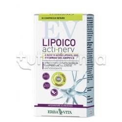 Erba Vita Lipoico Acti-Nerv Integratore Antiossidante 30 Compresse