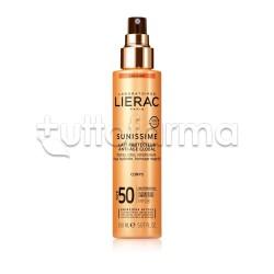 Lierac Sunissime Latte Solare Corpo Protettivo Energizzante Anti-Età SPF50+ 150ml