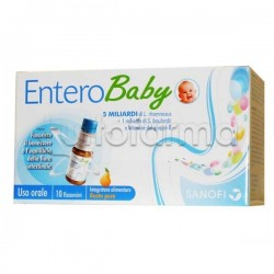 Enterobaby Integratore Alimentare per la Flora Intestinale Bambini 10 Flaconcini
