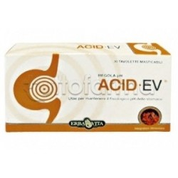 Erba Vita Acid Ev Integratore Acidità Stomaco 1 Gr 30 Tavolette