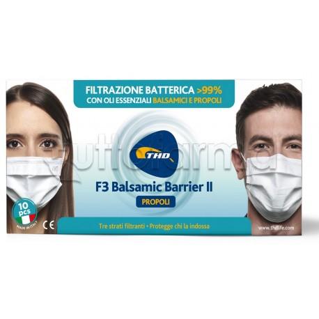 Mascherina Chirurgica F4 Balsamica Bianca con Propoli Made in Italy Marchio CE - Confezione 10 Pezzi - 35 Centesimi a Mascherina