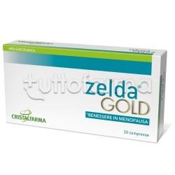 Cristalfarma Zelda Gold per Benessere in Menopausa 30 Compresse