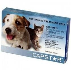 Capstar Farmaco Veterinario per Pulci di Cani e Gatti 6 Compresse