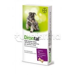 Drontal Multi Aroma Carne Farmaco Veterinario Infestazioni Intestinali dei Cani 6 Compresse