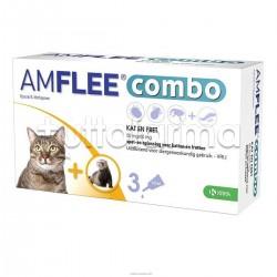 Amflee Combo Antiparassitario Veterinario per Gatti e Furetti 3 Pipette