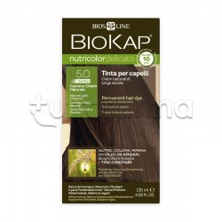 Bios Line Biokap Nutricolor Delicato Rapid Tinta per Capelli 5.0 Castano Chiaro Naturale
