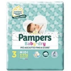 Pampers Baby Dry Midi Pannolini per Bambini Taglia 3 (4-9Kg) 20 Pezzi