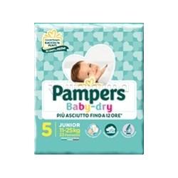 Pampers Baby Dry Junior Pannolini per Bambini Taglia 5 (11-25Kg) 17 Pezzi