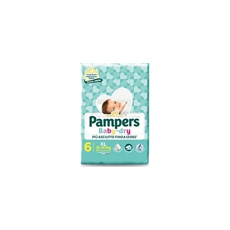 Pampers Baby Dry Extralarge Pannolini per Bambini Taglia 6 (15-30Kg) 14 Pezzi