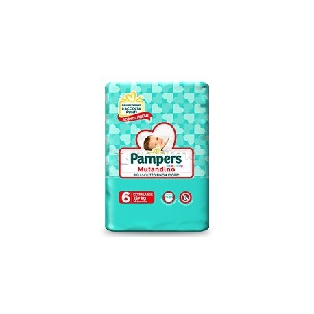 Pampers Baby Dry Mutandino Extra Large Pannolini per Bambini Taglia 6 (+15Kg) 14 Pezzi