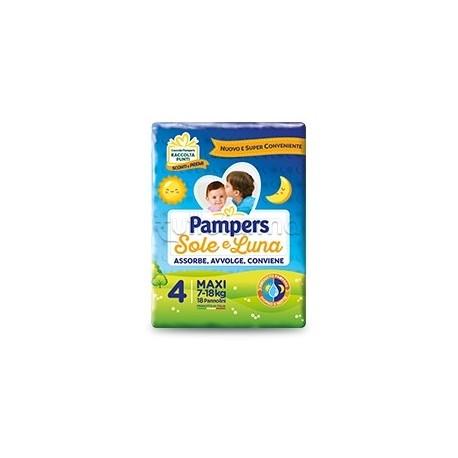 Pampers Sole e Luna Maxi Pannolini per Bambini Taglia 4 (7-18Kg) 20 Pezzi