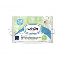Camon Lies Salviette Detergenti Veterinarie per Cani e Gatti 40 Pezzi