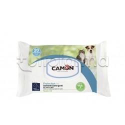 Camon Protection Salviette Detergenti Veterinarie per Cani e Gatti 20 Pezzi