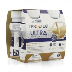 Nestlè Resource Ultra Ipercalorico e Iperproteico Gusto Caffè 4X125ml