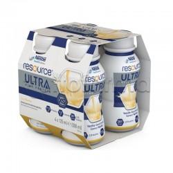 Nestlè Resource Ultra Ipercalorico e Iperproteico Gusto Vaniglia 4X125ml